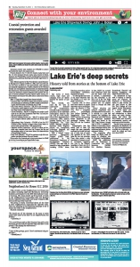 Lake Erie's deep secrets NIE page