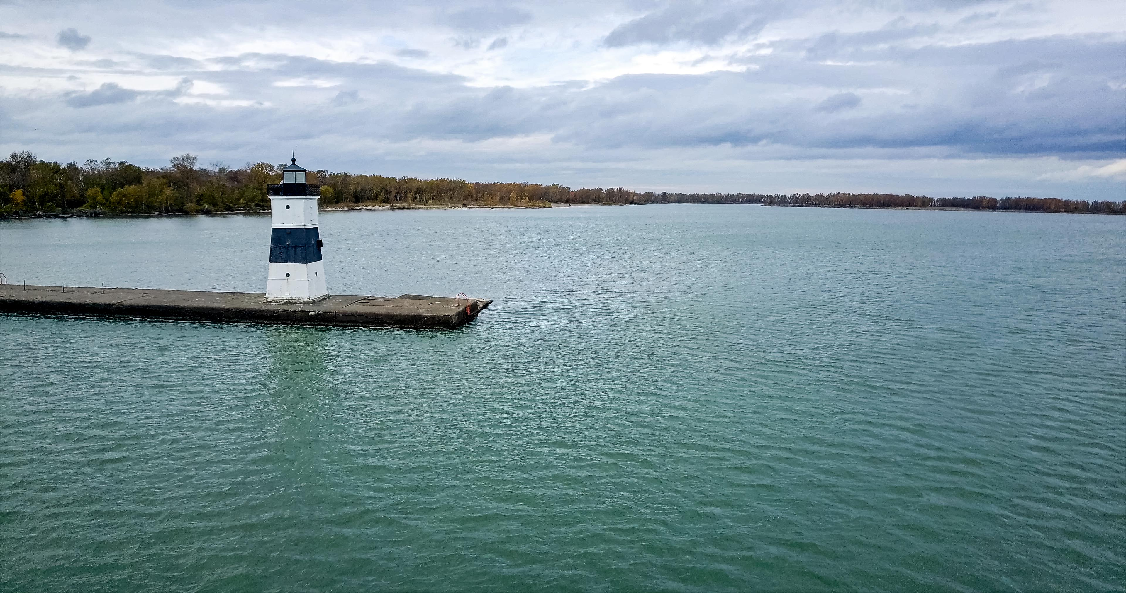 Lighthouse on Lake Erie bluff