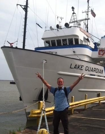 David Boughton and Lake Guardian