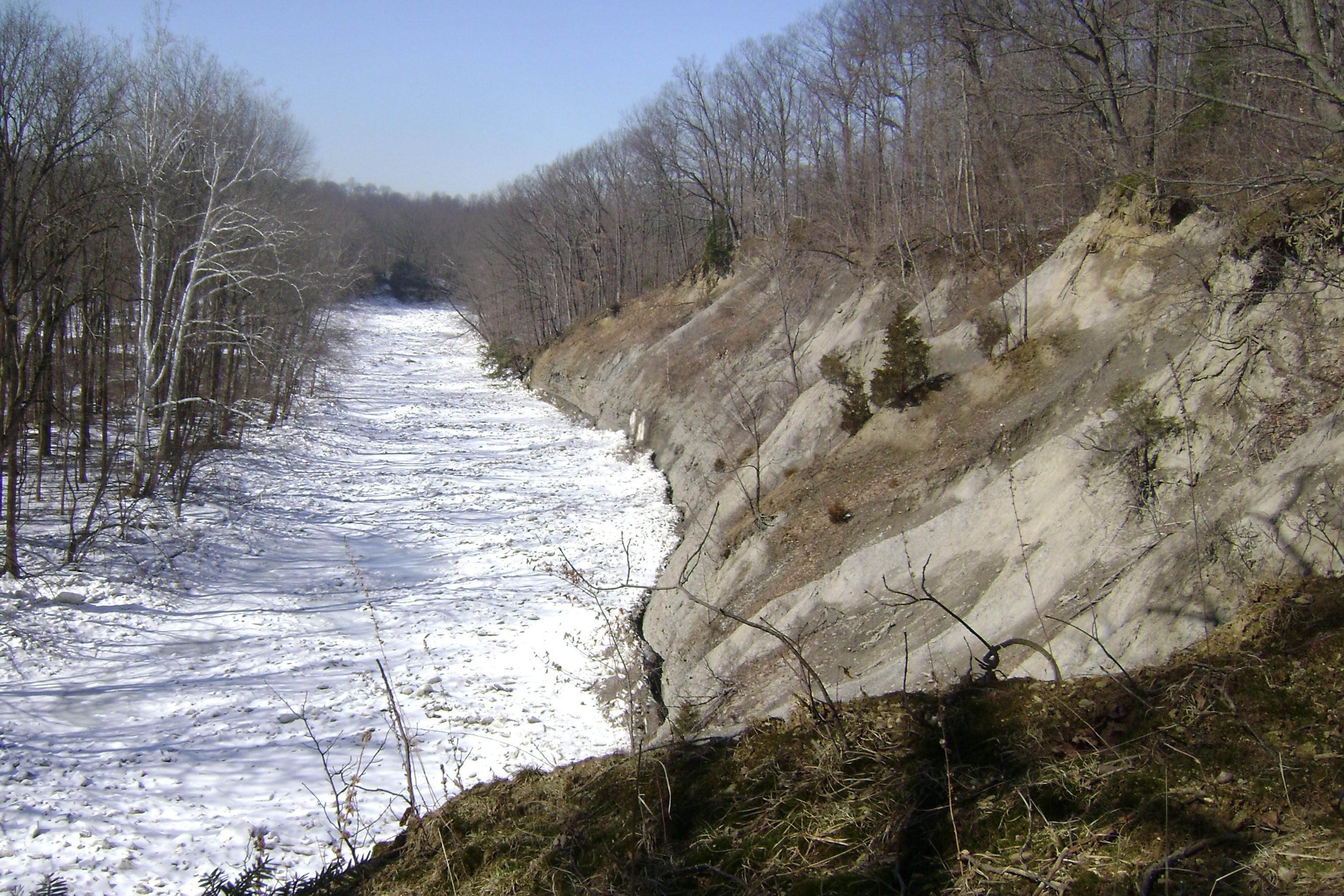 photo depicting Elk Creek Girarard Township, PA in winter