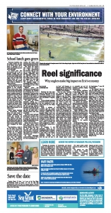 Economic Impact of Angling on Lake Erie newspaper page