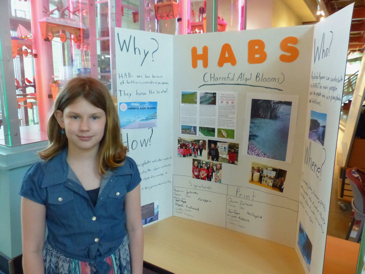 Great Lakes Awareness Day 2017 student participant