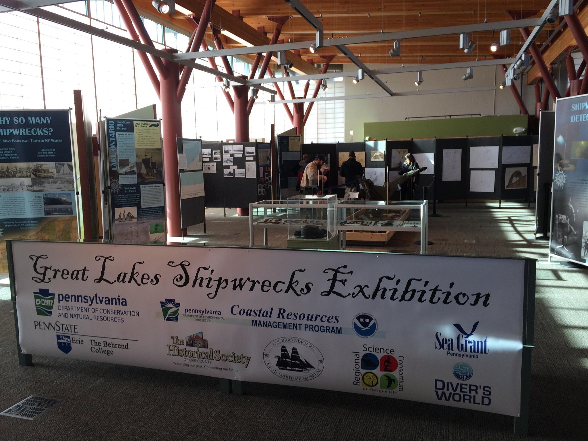 Great Lakes shipwreck exhibit