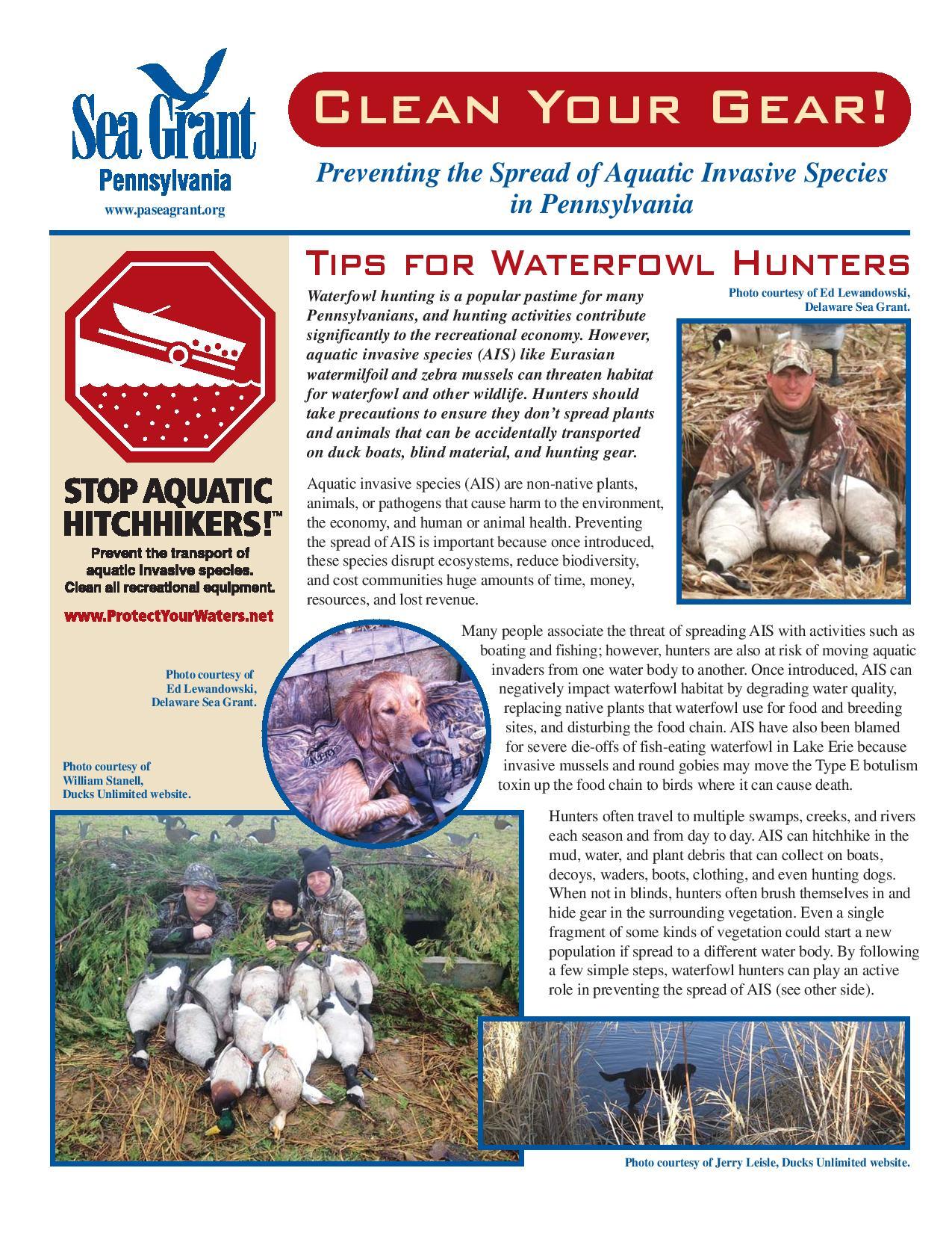 Waterfowl hunter factsheet