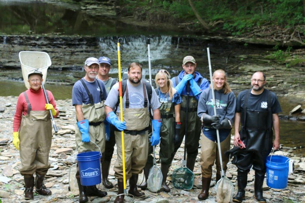 Sevenmile creek sampling team