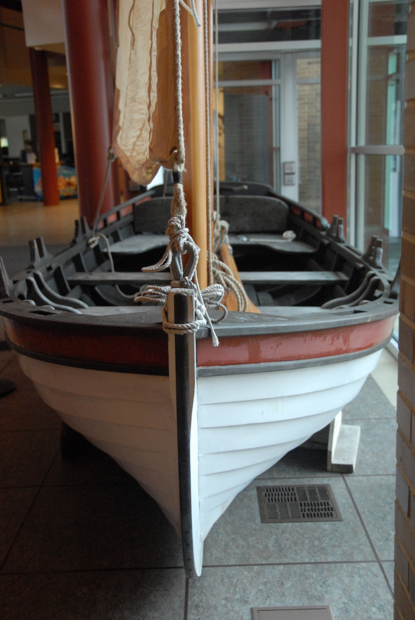 boat on display at Shipwreck exhibit