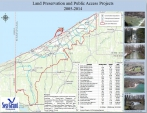 public access and land preservation map