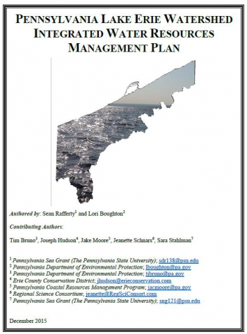 Pennsylvania Lake Erie water resources management plan