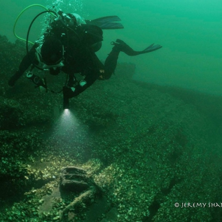 PASST Diver Explores the Schooner, Indiana