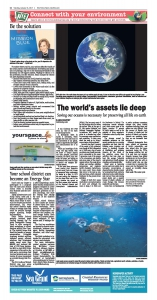 NIE Page The World's Assets Lie Deep: Saving our oceans is necessary for preserving all life on earth