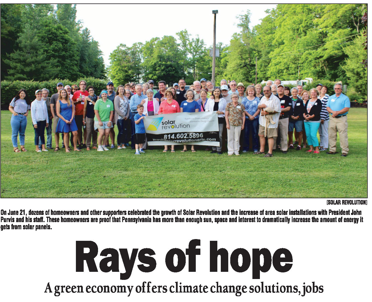 Connect with Your Environment - Rays of Hope