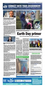 Connect with your environment newspaper page