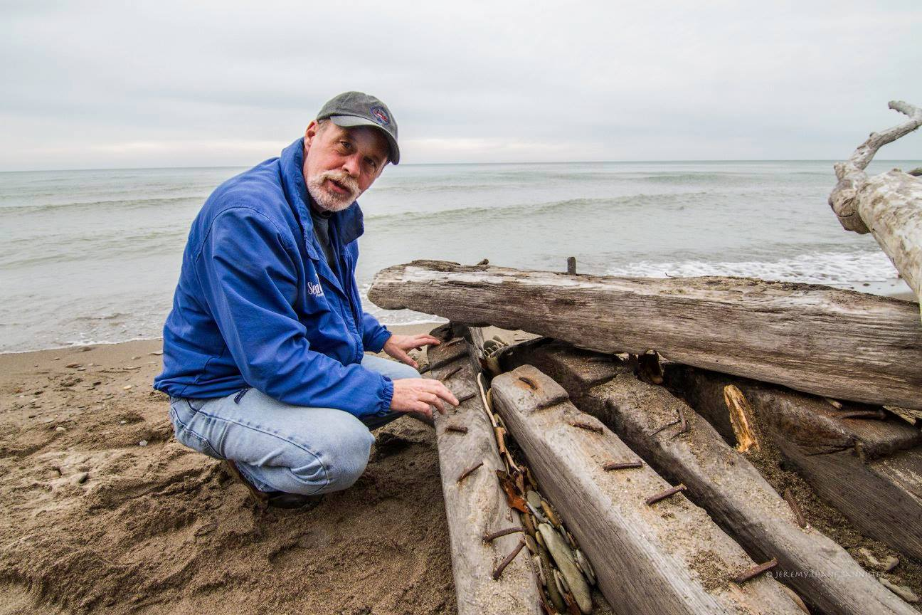 David Boughton examines shipwreck materials