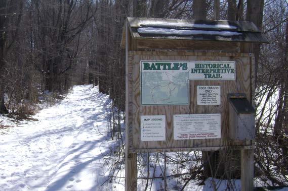Low impact walking trail at Battle's Farm in Erie PA