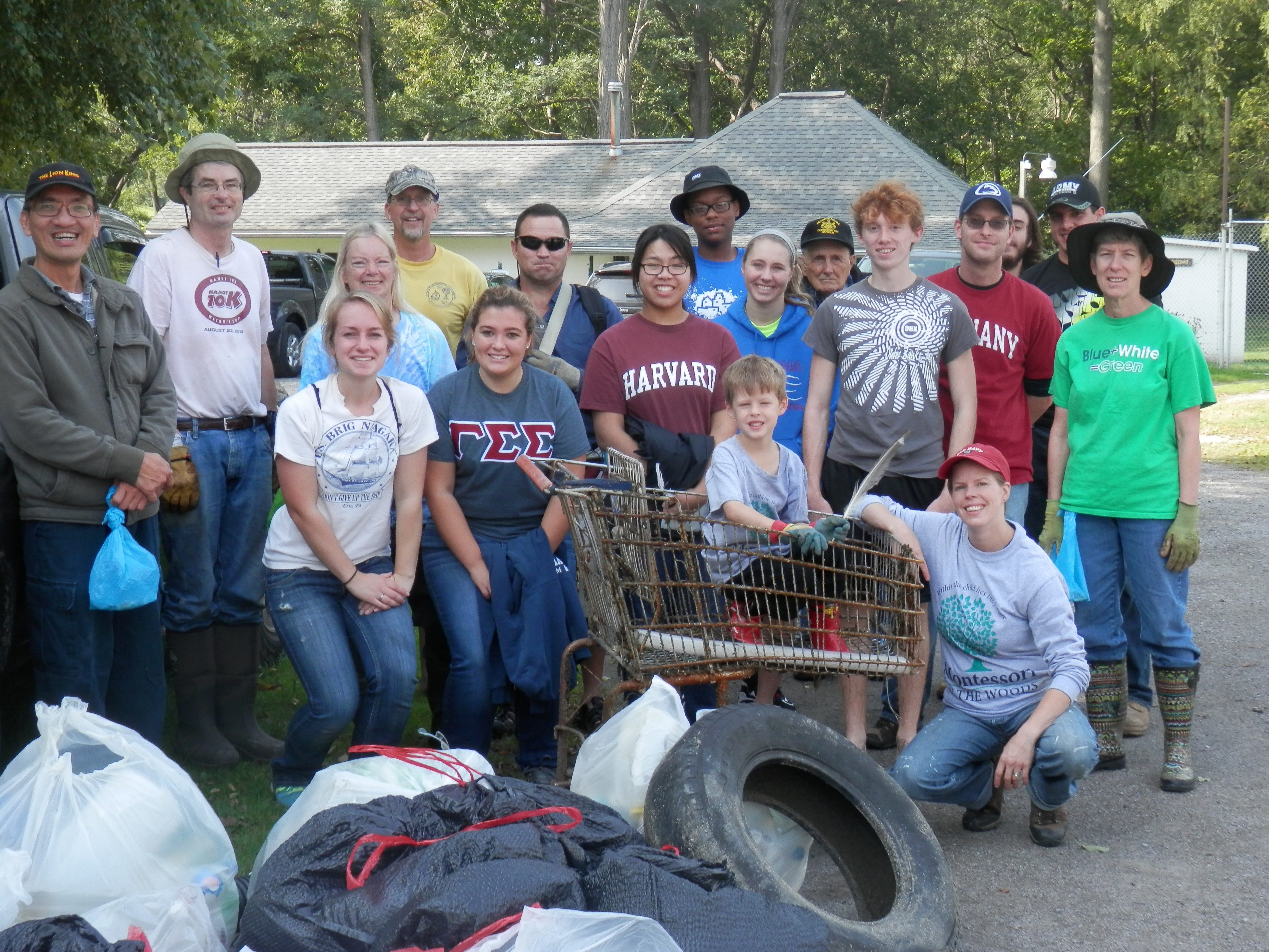 group participates in coastal clean up