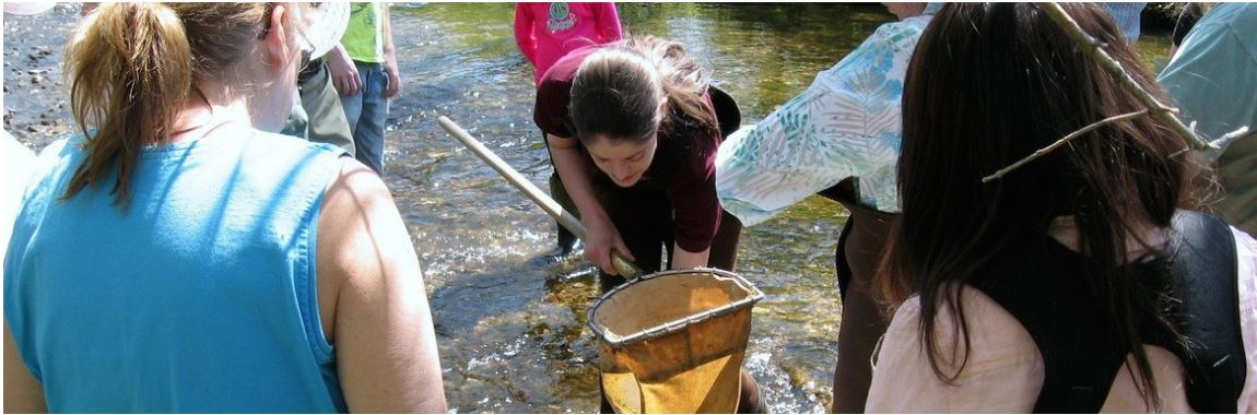 students and researchers working for water quality