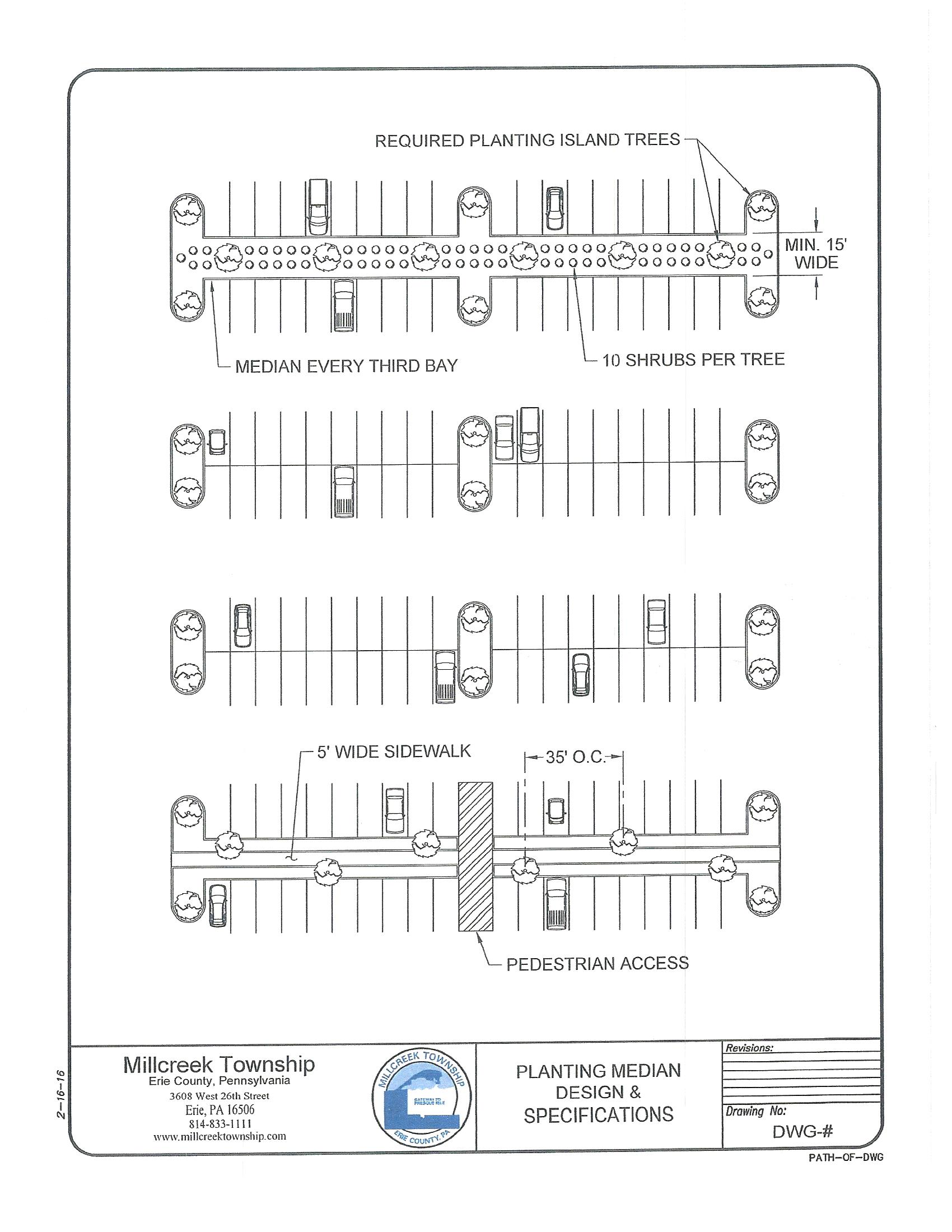 Planting median schematic