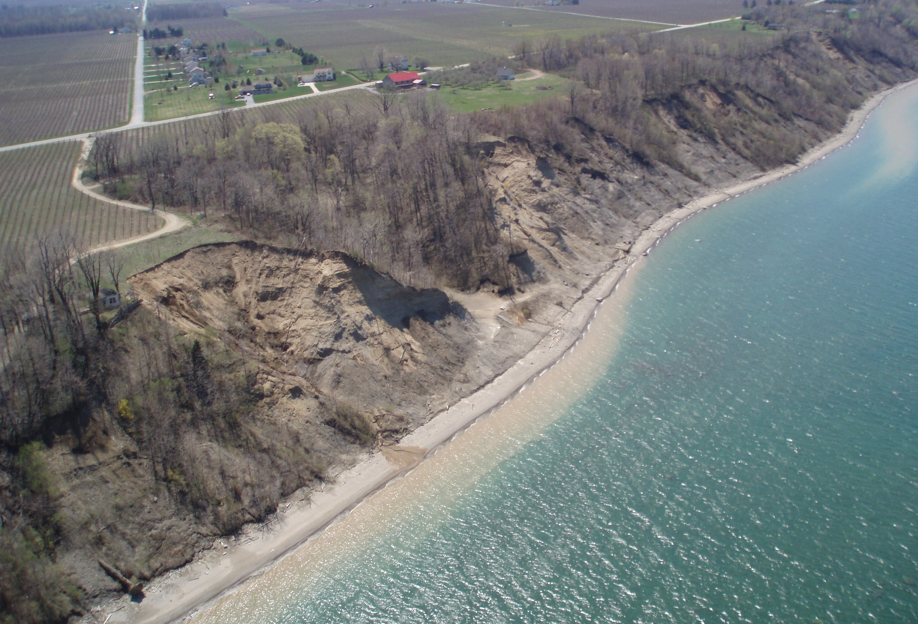 Lake Erie bluff recession