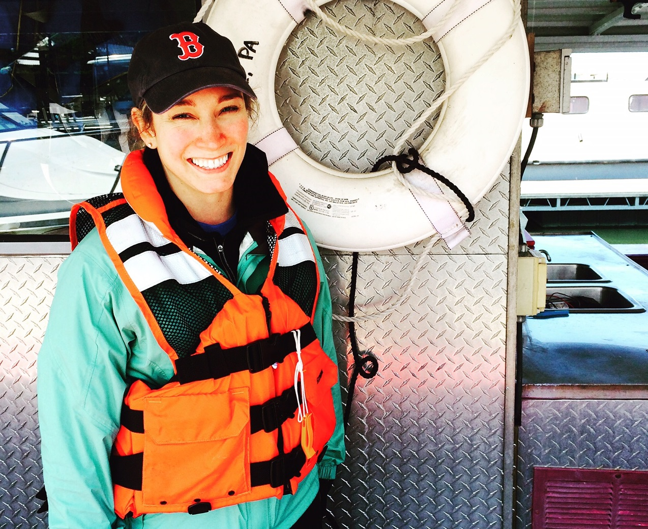 Hannah Evans, shipboard science educator