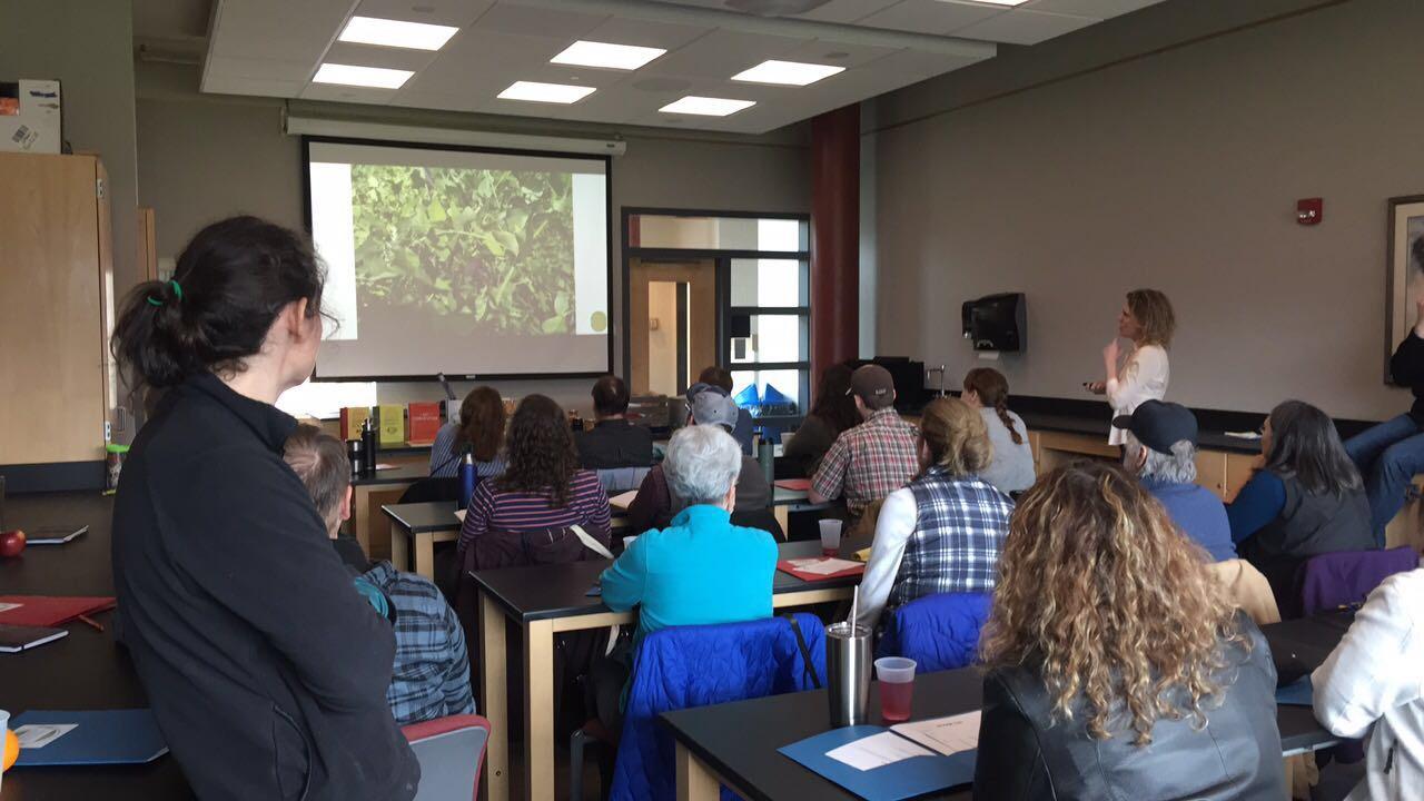 participants in small invasive species educational seminar