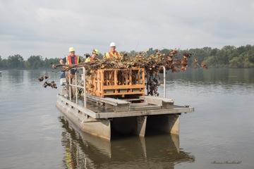 deploying fish habitat structures