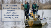 PA Sea Grant researchers and promotion for recorded webinar
